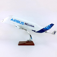 47cm 1/120 Scale Toys BELUGA Airbus A300 600ST Airplane Model Aircraft Model with Light and Wheel Diecast Plastic Allory Plane