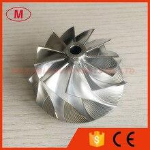 RHF5HB 46,50/59,94 мм 11+ 0 лопастей высокопроизводительный Турбокомпрессор заготовка/Фрезерование/алюминий 2618 колесо компрессора для VF30/VF34