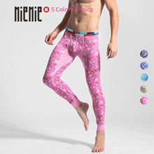 New Hot Men's Long Johns Thermal Underwear Flower Deer Print
