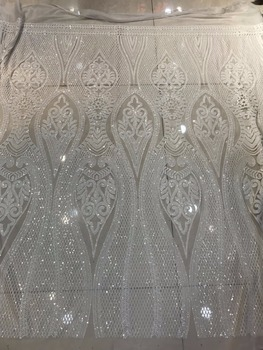 french Net Lace Fabric SYJ-42033 Latest african guipure lace fabric with stones embroidery mesh nigerian tulle lace fabric