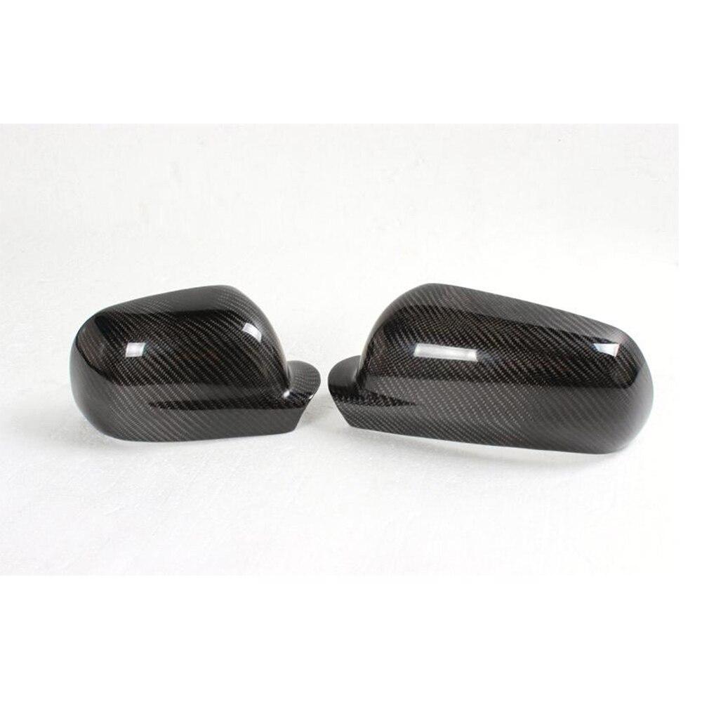 Углеродное волокно автомобиль автомобильная сторона Зеркало заднего вида шапки Чехлы Планки для Volkswagen VW Golf 4 Характеристическая вязкость полимера MK4 1998-2004 добавить на Стиль - Цвет: Different Size