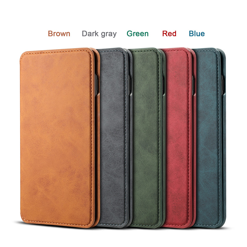 NeWisdom original for Samsung s10 case Leather Folio Wallet Cases Galaxy S10 Plus cover s10e Card Slot flip case men s9 Busines