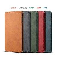 NeWisdom original for Samsung s10 case Leather Folio Wallet Cases Galaxy S10 Plus cover s10e Card Slot flip case men s9 Busines