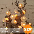 Lamp string Holiday Sale Indoor 3m 20LED 220V string Flowr String Fairy Lights Wedding Party Christmas Garden lights