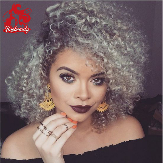 Cheap Afro Kinky Curly Synthetic No Lace Wig African