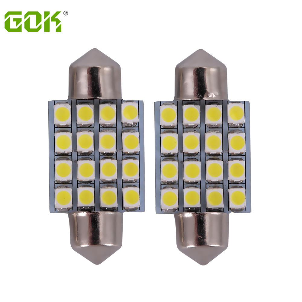 10pcs Auto led festoon 16smd led 1210 3528 c5w 36mm 39mm 42mm 31mm c5w Led Dome light CAR  Interior Light Bulbs Auto Roof lamp hot sale 31mm 12 led 3528 1210 smd festoon dome c5w car auto interior lights reading bulbs door lamp dc12v