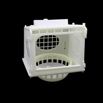 1 Pcs Bird Cage Bird House Parrot Cage White High Quality Plastic Pet Bird's Nest Removable 3