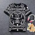 Hop Homens Nova moda verão 2016 topos de verão dos homens KTZ bandana camiseta camiseta hip hop streetwear para homens/mulheres Camiseta