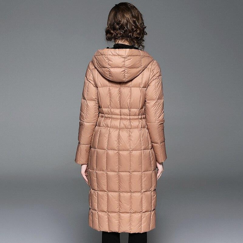 Vintage Mince Parka D'hiver Survêtement Blanc Noir Longues Manteau Canard Taille L028 2019 Européenne Manches Femmes Élégant Réglable kaki gris Doudoune BAddq