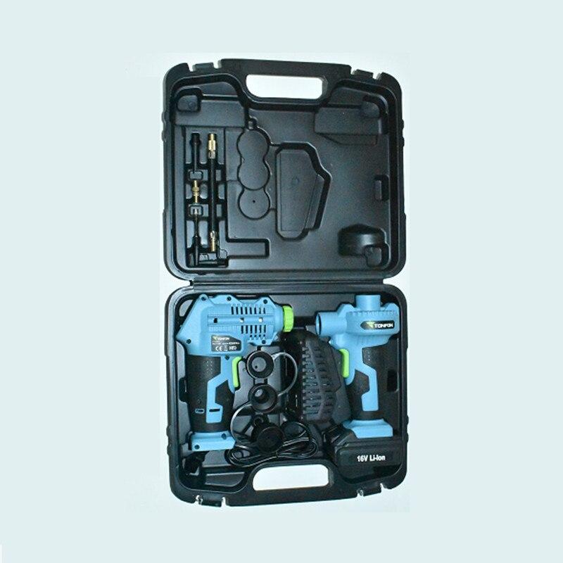Tonfon 16V Car Air Compressor Car Tire Inflatable Pump Portable Rechargeable Tyre Inflator Wireless Cordless EU Plug New