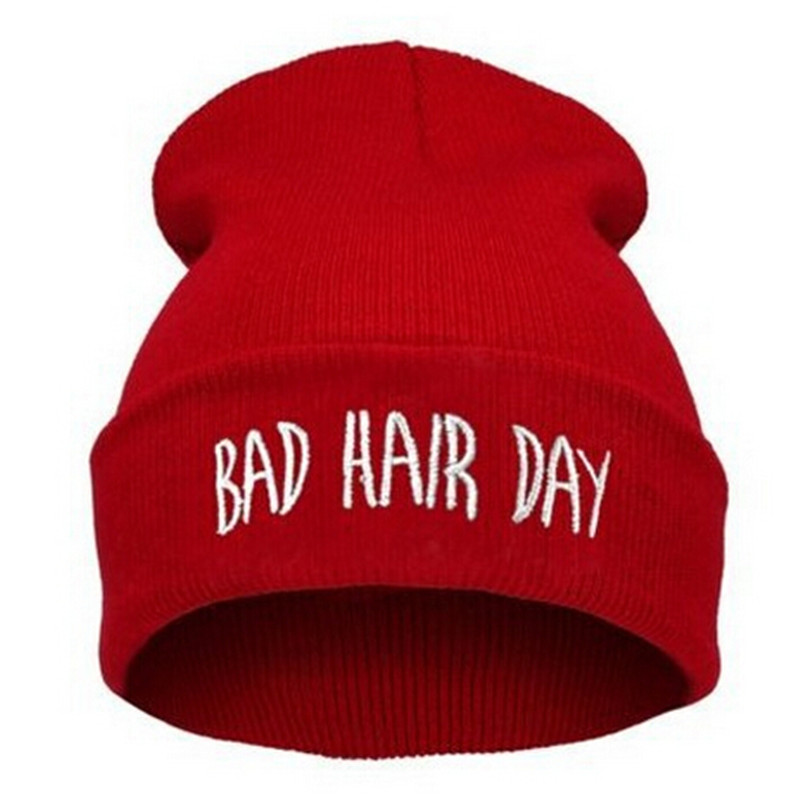 High Quality Winter Bad Hair Day   Beanie   Cap Men Hat   Beanie   Knitted Hiphop Winter Hats For Women Fashion Warm Caps Mask