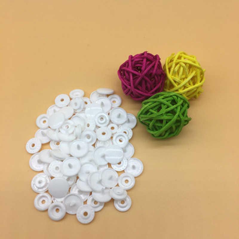 100/150/200 Sets Kam T5 okrągłe plastikowe zatrzaski do akcesoriów odzieżowych przyciski Diy zatrzask zapięcia Poppers
