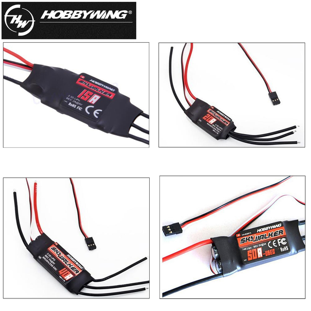 1pcs Hobbywing Skywalker 15A 20A 30A 40A 50A ESC Speed Controler With UBEC For RC FPV Quadcopter  RC Airplanes Helicopter