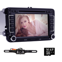 HD 2 DIN Car DVD Player GPS Navigation For VW Passat Skoda Jett Golf Polo For