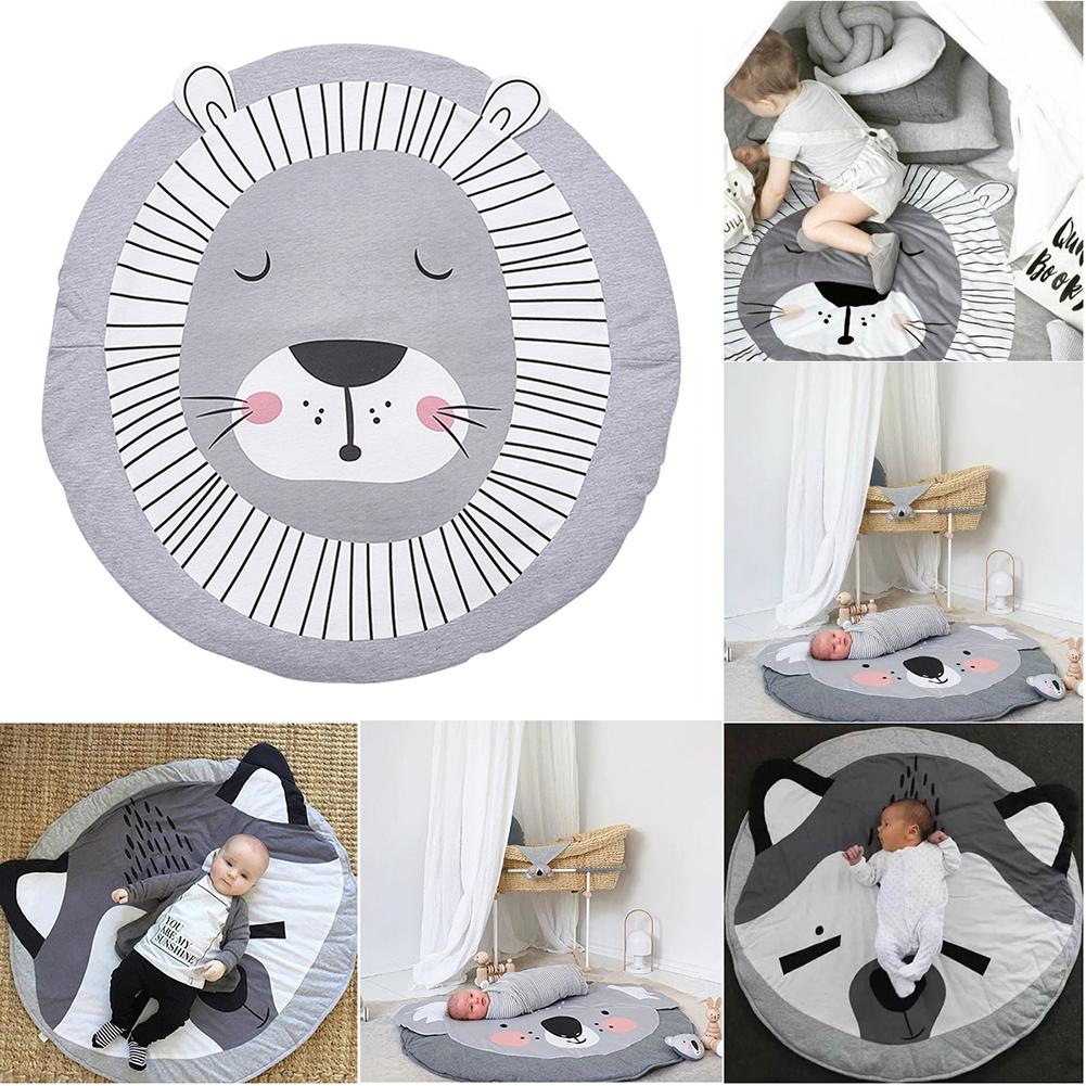 2018 INS Cute Animals Crawling Blanket Carpet Floor Baby Game Pad Children Room Decoration Play Carpet Crawling Mat цены