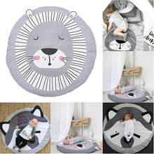 2018 INS Cute Animals Crawling Blanket Carpet Floor Baby Game Pad Children Room Decoration Play Carpet Crawling Mat(China)