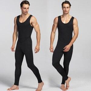 Image 4 - Yeni 3mm neopren dalgıç kıyafeti erkekler için yüzme sörf atlama takım elbise yüzey sıcak Wetsuit askı pantolon ve ceket 2 adet/takım