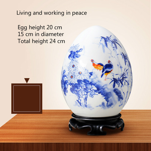 Jingdezhen Ceramic Lucky Ornaments Furnishing Decoration Crafts Office Coffee Accessories Wedding Desktop Pendulum E $ 3