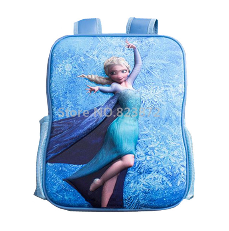 3D Children Backpacks School Bags for Girls Princess Elsa Snow Queen Kindergarten Backpack Waterproof Schoolbag Kids Bag  Рюкзак