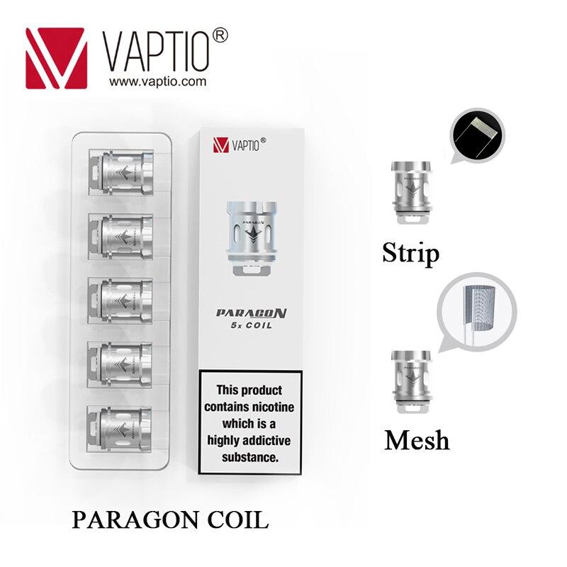 5pcs/lot Original Vaptio Paragon Vape Coil Head Core 0.15ohm 0.2ohm Mesh/Strip Coils For Paragon tank Vaper Kit Replacement Core