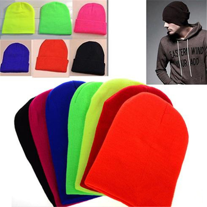 Unisex Women Men New Fashion Winter Solid Color Plain Beanie Knit  Cap Skull Hat Warm Cuff Blank Beany Free Shipping Cai0032 fashion winter hat solid color woolen flat top cap unisex autumn and winter cap w005
