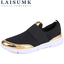 LAISUMK Brand Women Casual loafers Breathable Summer Flat Shoes Woman Slip on New Zapatillas Flats Size 35-42