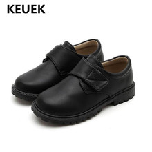New British style Dress Shoes Boys Children Leather Shoes Black School