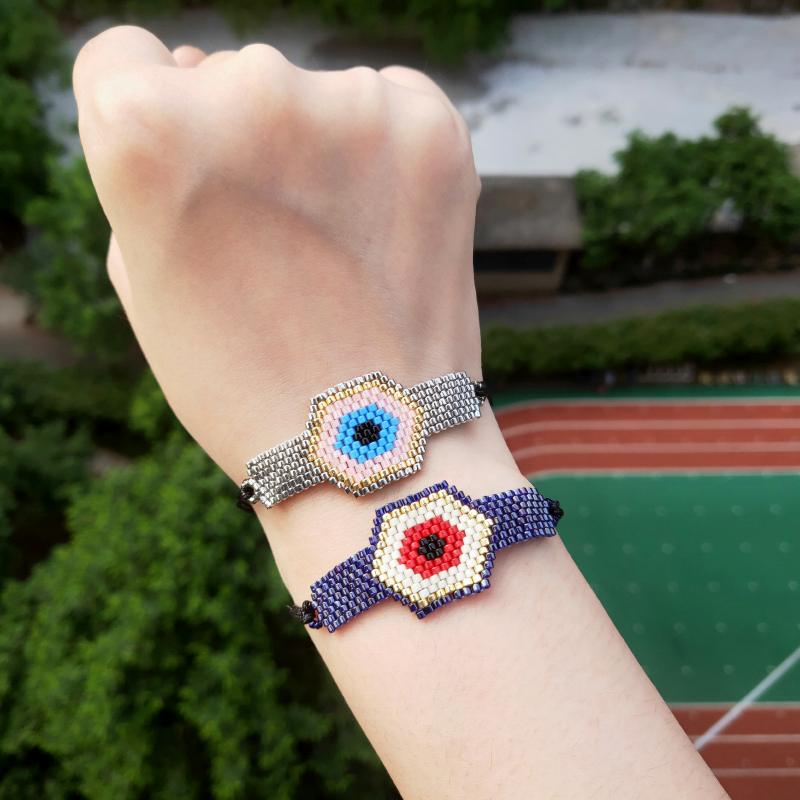 2019 New Bead Bracelet For Women Jewelry Fashion Glass Bead Jewellery Gothic Handmade Chain Accessory Charm Bracelets Wholesale in Charm Bracelets from Jewelry Accessories