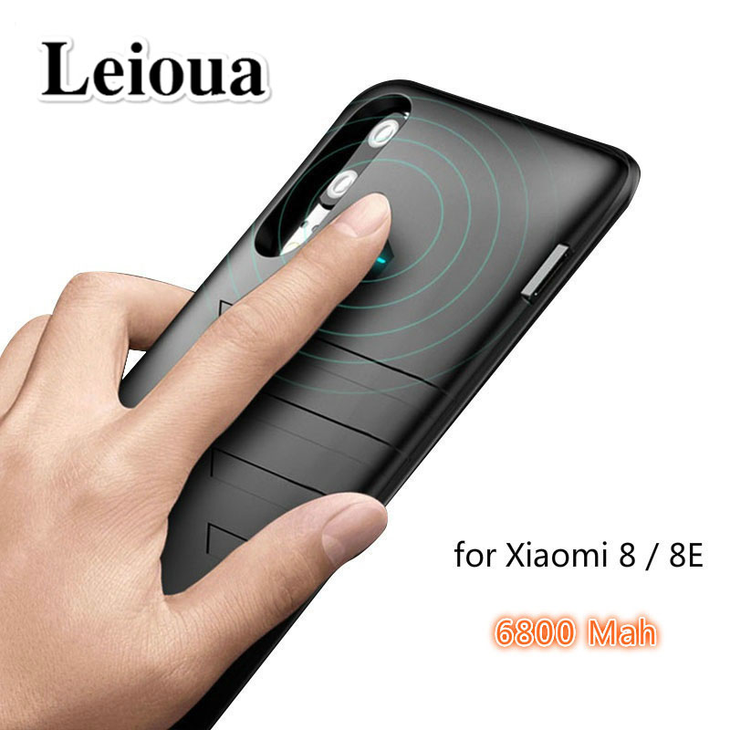 Leioua 6800mah For <font><b>Xiaomi</b></font> <font><b>mi</b></font> <font><b>8</b></font> <font><b>Battery</b></font> Case Ultra thin Backup Charger <font><b>Cover</b></font> For <font><b>Xiaomi</b></font> mi8SE <font><b>Battery</b></font> Case Smart Power Case Bank image