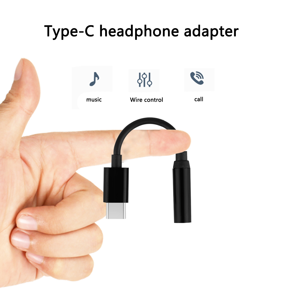 Phone Adapters USB Type C To 3.5mm Headphone Jack Aux Audio Adapter Cable For LG G5 Samsung S8 S9 Huawei For New Macbook P15