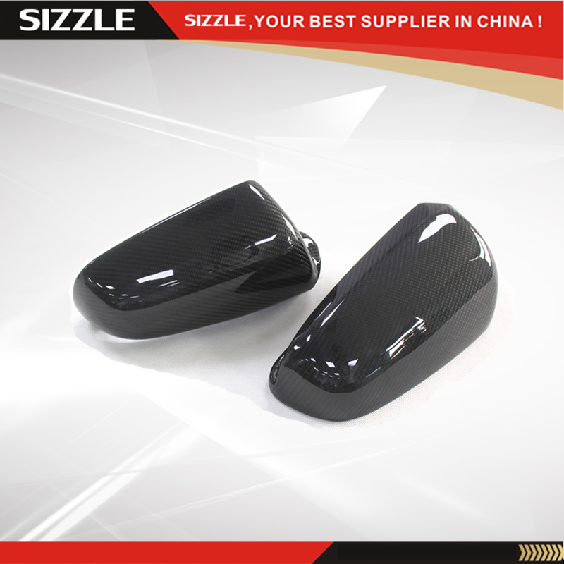 Replacement Carbon Fiber Rear View Side Mirror Cover For