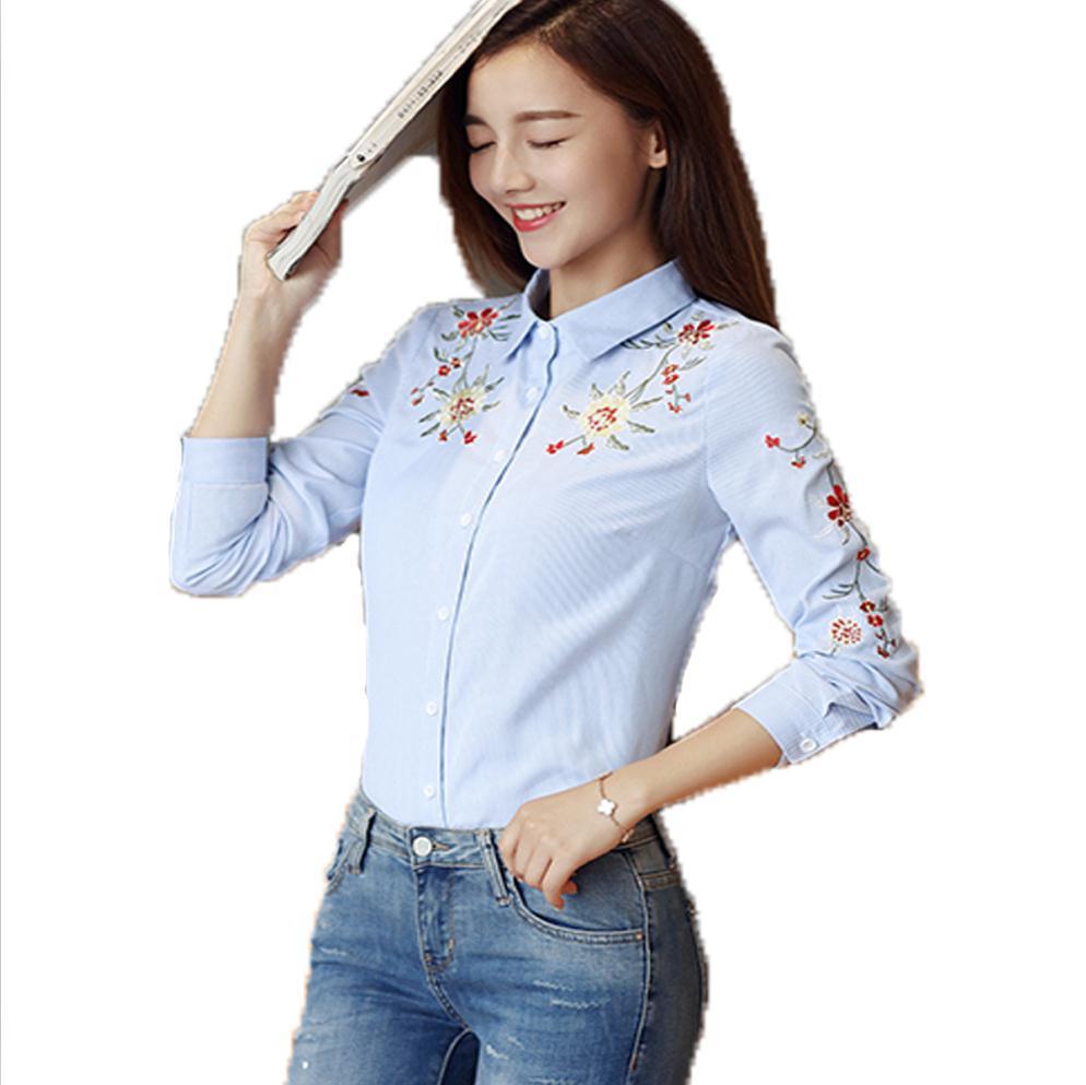 Popular Ladies Cotton Work Shirts-Buy Cheap Ladies Cotton Work ...