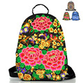 Ladies Canvas Embroidery Backpack Ethnic Vintage Flower Bag Rucksack For Women Backpack Mochila Bolsas GZ50-21