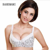 Bamboo Fiber Maternity Bra Nursing Bra Feeding For Pregnant Women Flower Lace Underwear With Wire Anti