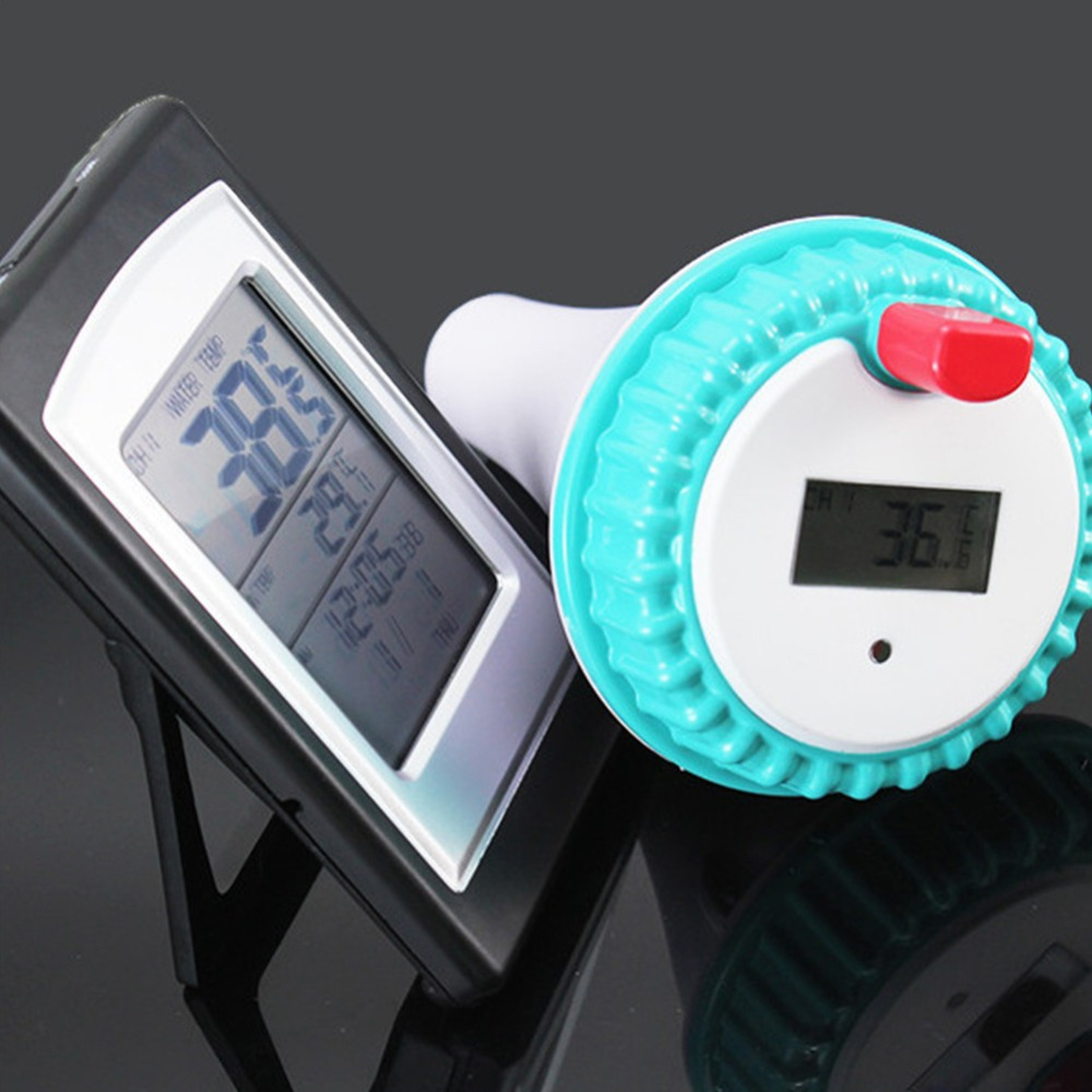 Swimming Pool Thermometer Wireless Lcd Display Swimming Pool Spa Floating Thermometer For Spa Hot Tub