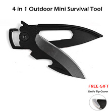 (Wholesale) 1PC EDC Multifunctional Mini Keychain Knife Pocket Survival Tool Folding Knife Outdoor Pare Peeler Peel Parcel Open