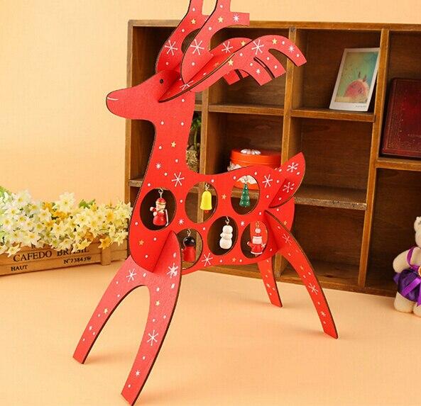 Verstandig 26 Cm * 35 Cm * 11 Cm Houten Kerst Herten Artikelen Kerstcadeau Tafel Decoratie Hout Kerst Herten Met Ornament Voor X'mas Hoge Kwaliteit En Weinig Overheadkosten