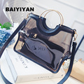 2016 New Female Bag Transparent Jelly Bag Korean Fashion Handbags Casual Shoulder Bag Messenger Bag Picture