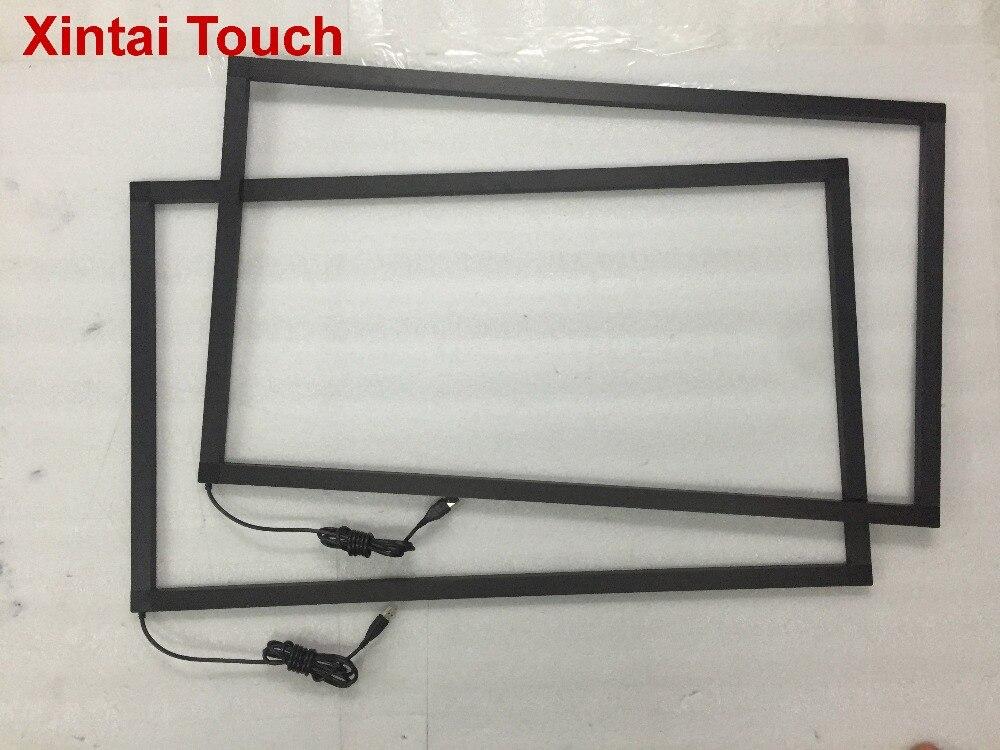 Livraison Gratuite! Cadre tactile IR 65 pouces multi 10 points kit de superposition de panneau d'écran tactile infrarouge