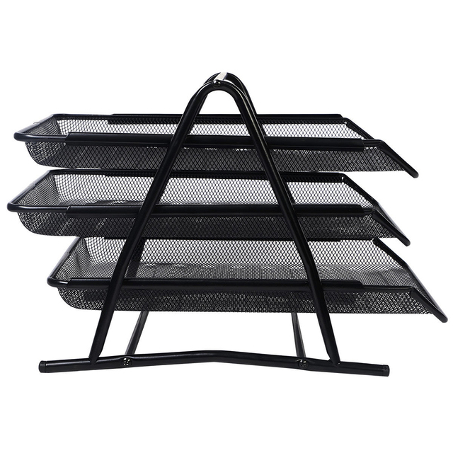 Metal Doent Trays A4 Paper Office Mesh File Letter Tray Organiser Holder