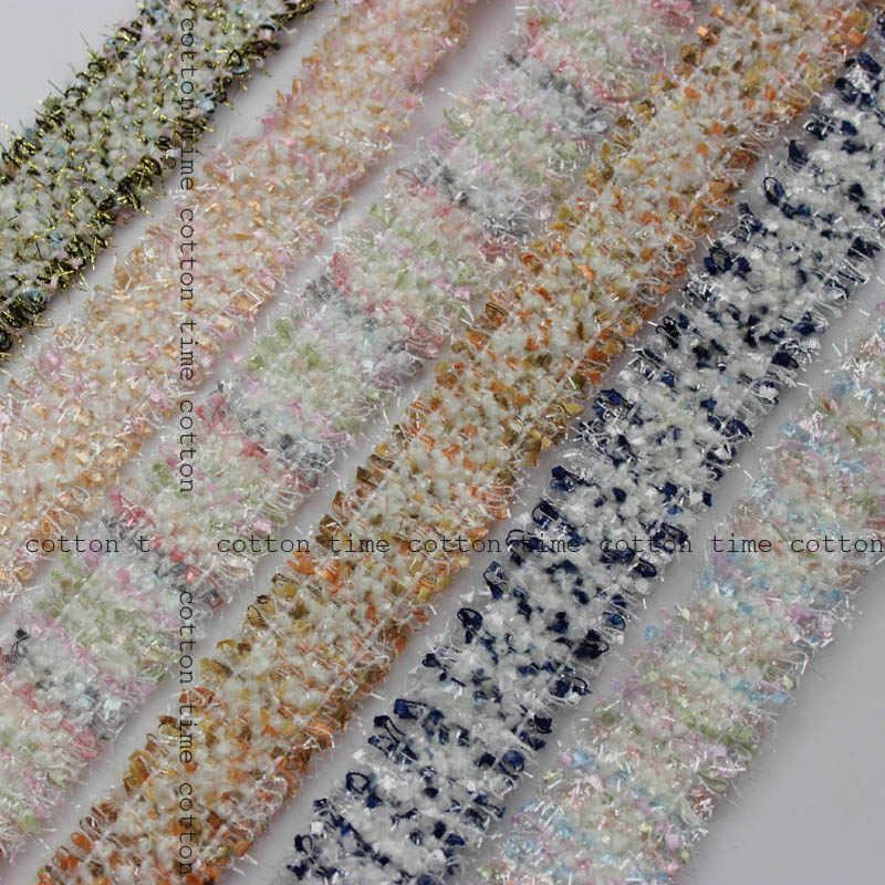 5 yardas/lote 3cm de ancho (1,18 '') borlas de encaje de Tweed de ajuste hecho a mano DIY vestido de vestir artículos de costura artesanal AC195