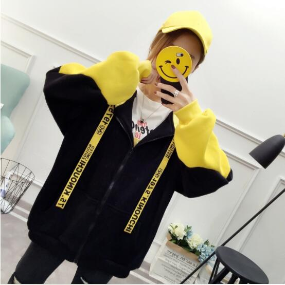 2018 autumn new female loose sweater top long sleeve sweater A5 wolf chain print long sleeve sweater