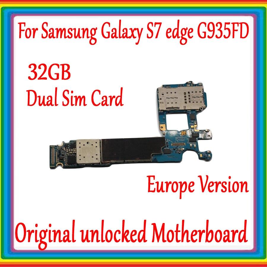 Dual Sim Card For Samsung Galaxy S7 edge G935FD Motherboard 32G ,Original unlocked EU Version for Galaxy S7 G935FD Logic boardDual Sim Card For Samsung Galaxy S7 edge G935FD Motherboard 32G ,Original unlocked EU Version for Galaxy S7 G935FD Logic board