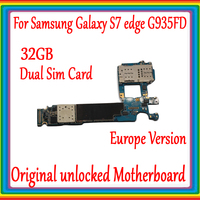 Dual Sim Card For Samsung Galaxy S7 edge G935FD Motherboard 32G ,Original unlocked EU Version for Galaxy S7 G935FD Logic board