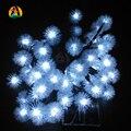 Novelty bola de nieve copos de nieve lámparas led solar luces de la secuencia de vacaciones boda fiestas eventos pascua de navidad decoración de navidad