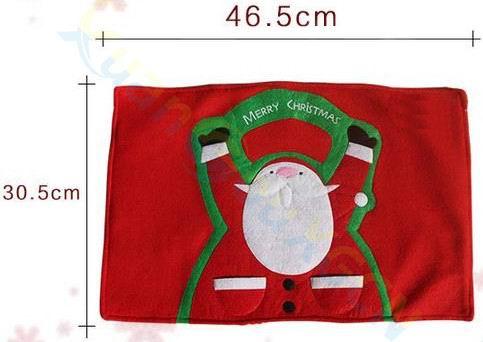 6pcs home Christmas decoration Santa Claus dinner table mat Insulation pad Tableware Fork napkin holder pocket party table Decor