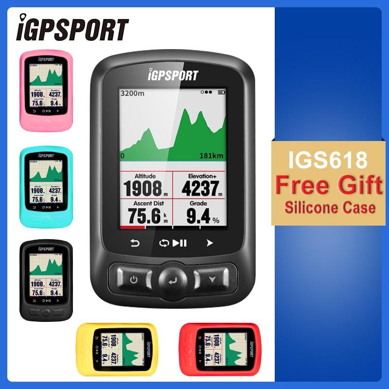IGPSPORT Cycling ANT GPS IGS618 Bike Bicycle Bluetooth Wireless Stopwatch Speedometer Waterproof IPX7 Bike Speedometer Computer