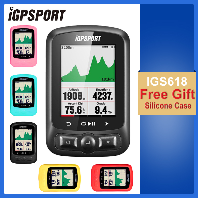 IGPSPORT Cycling ANT+ GPS IGS618 Bike Bicycle Bluetooth Wireless Stopwatch Speedometer Waterproof IPX7 Bike Speedometer Computer