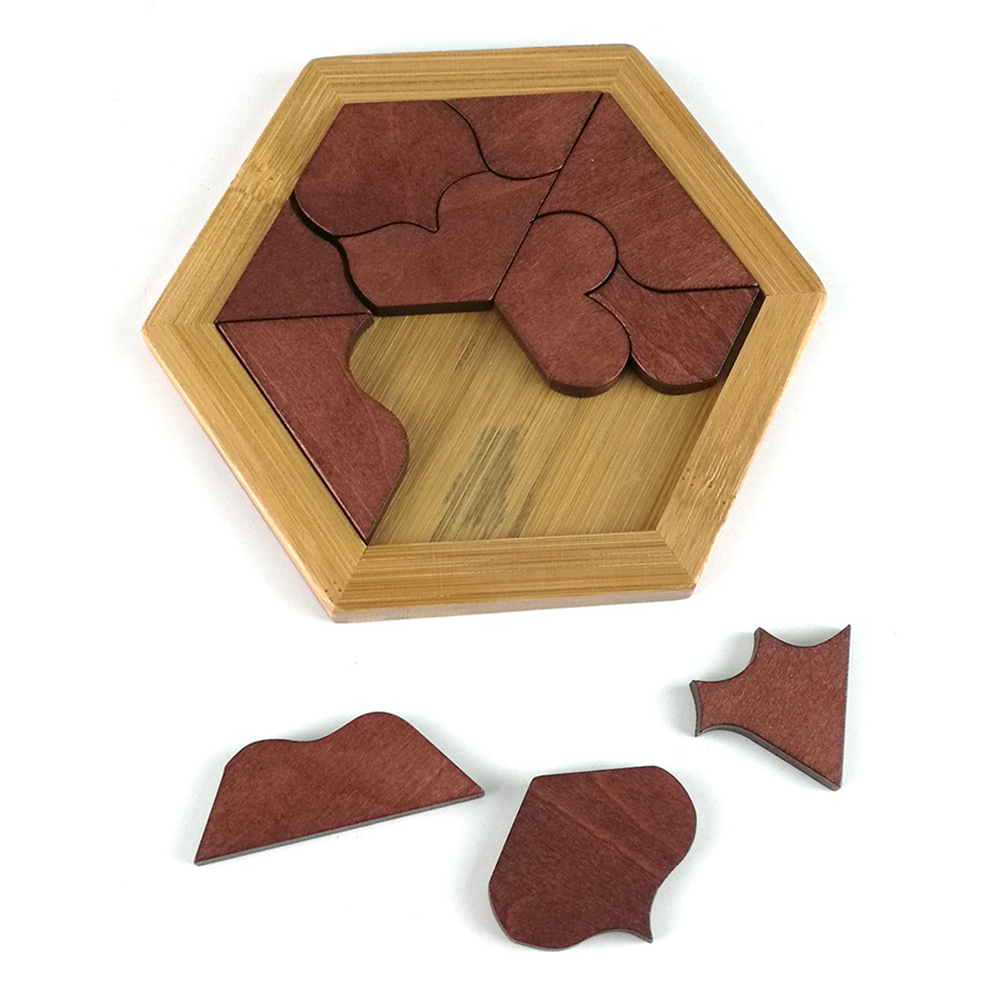 Best Sale Wooden Tangram Jigsaw Board Educational Early Learning Wood Puzzles Game Toys For Children Kids Gifts
