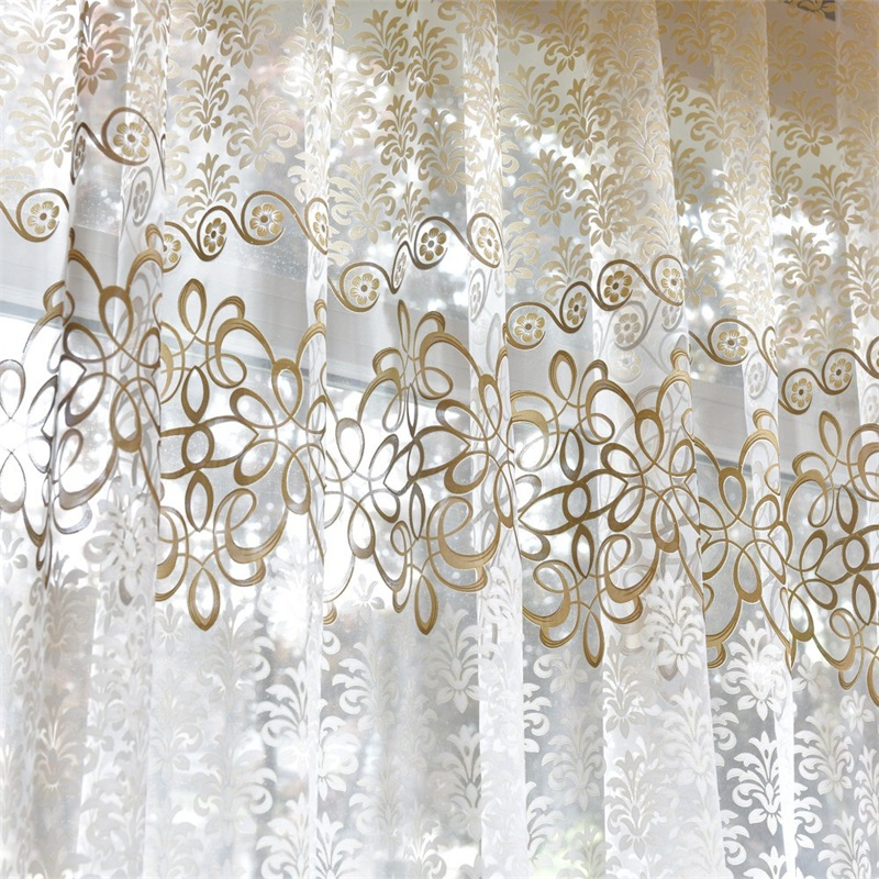 Best Selling Ready Made Curtains For Living Room Bedroom Bay Window Kitchen Short Sheer Tulle Curtain Modern Home Decor L39#4